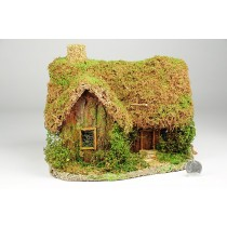 "House Nat. Brown Grass Roof 8""x8''H"