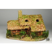 "House Nat. Wood Chip Roof 11""x8""H"