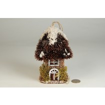 "House Snow Nat. Thistle Roof w/Hanger 3.5""x6""H"