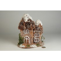 "House Snow Nat. Cone Roof 6.5""x8""H"