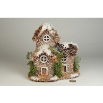 "House Snow Nat. Cone Roof 7""x8""H"