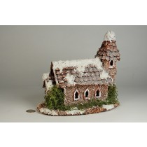 "Church Snow Nat. Cone Chip Roof 6.5""x8.5""x9""H"""
