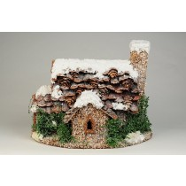 "House Snow Nat. Pinecone Roof 8""H"