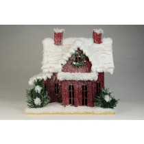 House Snow Burgundy Wall 10""