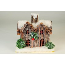 """House Snow Chip Roof w/Light 5"""""""