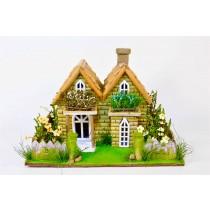 """House w/Spring Garden 10""""x13""""H"""