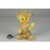 Duck Yellow Flocked w/Hat & Bskt Sitting