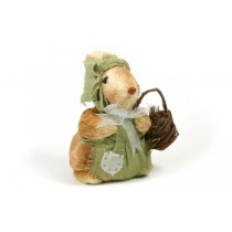 Rabbit Brown Jute w/Grn Dress 8""