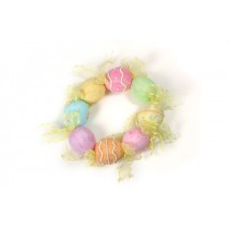 Wreath Egg Multi-Color w/Ribbon 7.5""
