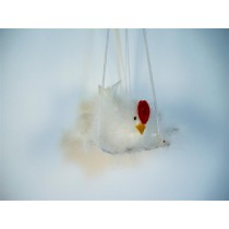 Chick White Feather on Hanger
