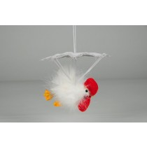 Chick White Feather w/Hanger