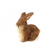 "Rabbit Brown Jute Sitting 8""H"