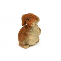 "Rabbit Brown Jute Standing 7.5""H"