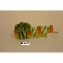 "Fence Green w/Carrot Post 3""x42""L"
