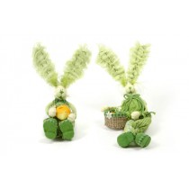 Rabbit Cartoon Green Sitting Asst*2 4""