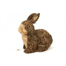 Rabbit Brown Jute Sitting 11""
