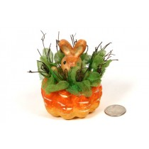 Carrot Container w/Rabbit 3.5""