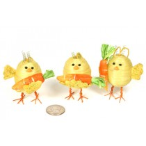 Chick Cartoon w/Carrot/Hanger Asst*3 2""