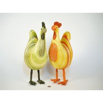Rooster Painted Strips Asst*2 14""
