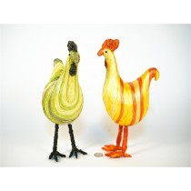 Rooster Painted Strips Asst*2 10""