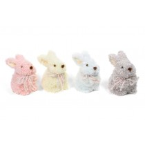 Rabbit Fluffy Standing Asst*4 6""