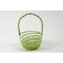 "Easter Basket Circular Grn w/Jute 4"""