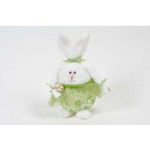 Rabbit Container Grn Dress 9""