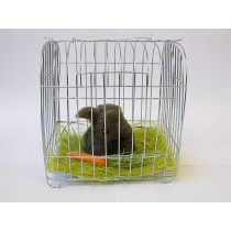 """Rabbit Fluffy Brown in Cage 5""""x5"""""""