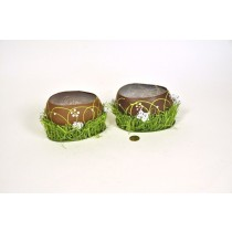 """Egg Shell Chocolate Container Asst*2 5"""""""