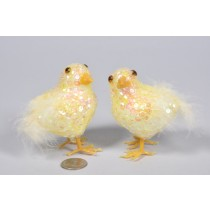 Chick Yellow Sequin 3""