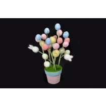 Egg Pot w/Egg Stems 15""