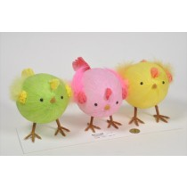Chick Cartoon in Egg Shape Asst*3 6""
