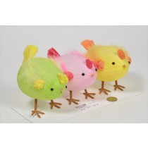 Chick Cartoon in Egg Shape Asst*3 4""
