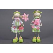 """Doll Floral Dress Asst*2 9"""""""
