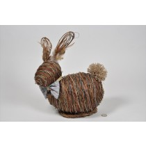 Rabbit Brown Straw/Thread 12""