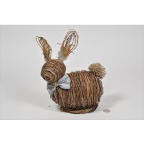 Rabbit Brown Straw/Thread 9""