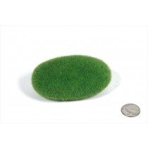 "Rock Green Flocked 3x2.5x1.5""H"