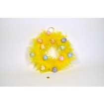 Wreath Egg Yellow Feather 12""