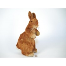 Rabbit Brown Jute Standing 12""