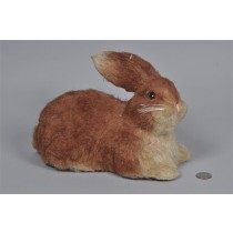 Rabbit Brown Jute Sitting 7.25""