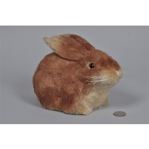 Rabbit Brown Jute Sitting 8.25""