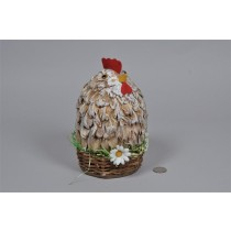 Hen Standup in Basket 8""