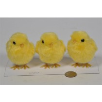 Chick Yellow Fur Asst*3 3""