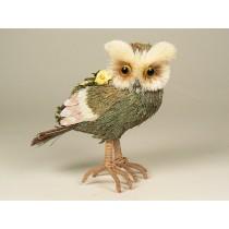 """Owl Green Grass w/Flower 7"""""""