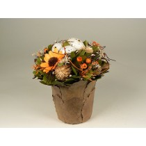 Egg Pot Orange Arrangement 7.5""