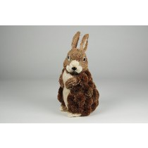 Rabbit Brown Grass Standing 8''