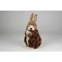 Rabbit Brown Grass Standing 8''