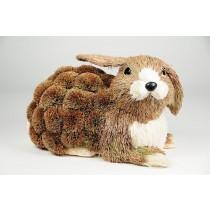 "Rabbit Brown Grass Lying Down 11"""