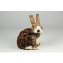 Rabbit Brown Grass Sitting 6""