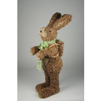 Rabbit Brn Jute Rope, w/Basket 21""
